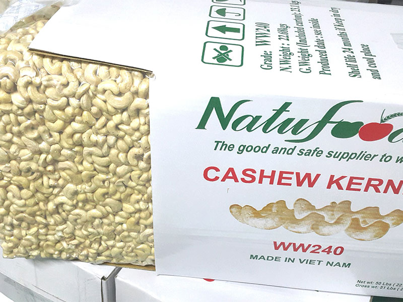 Cashew WW240 are manufactured in Pacific Production Co., Ltd